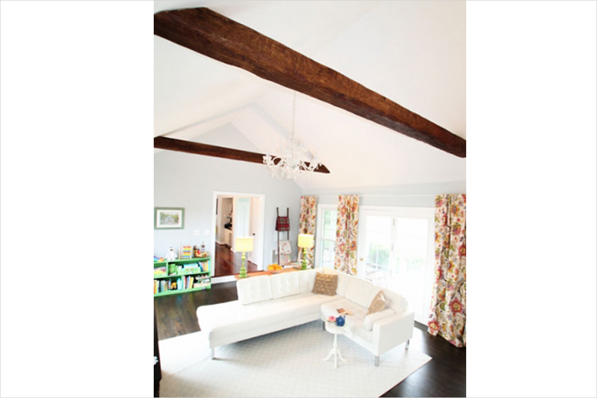 Living Rooms With Wood Beams  Living Room